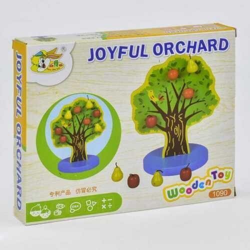 Деревянная игра Дерево с фруктами на магнитах С 35888