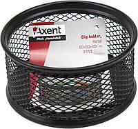 """Підставка для скріпок """"Axent"""" №2113-01 метал.,чорна,80х80х40мм(12), фото 1"""