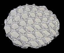 Сеточка на гульку/пучок объемная 2 шт белая сетка