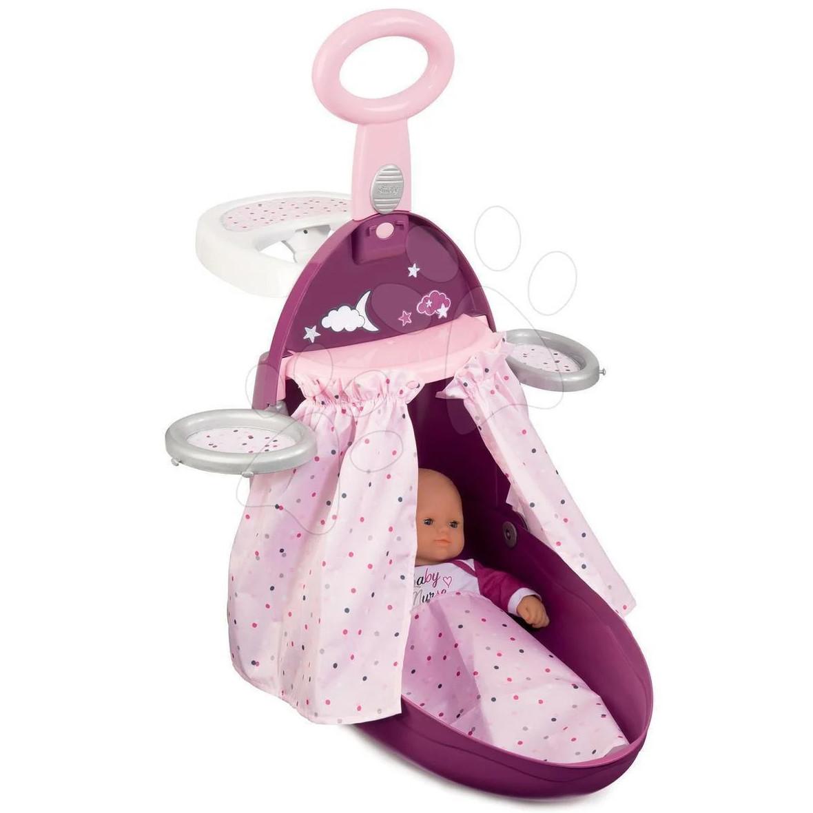 Дитячий ігровий набір для догляду за лялькою Розкладна валіза 3в1 Baby Nurse Smoby 220346