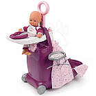Детский игровой набор для ухода за куклой Раскладной чемодан 3в1 Baby Nurse Smoby 220346, фото 2