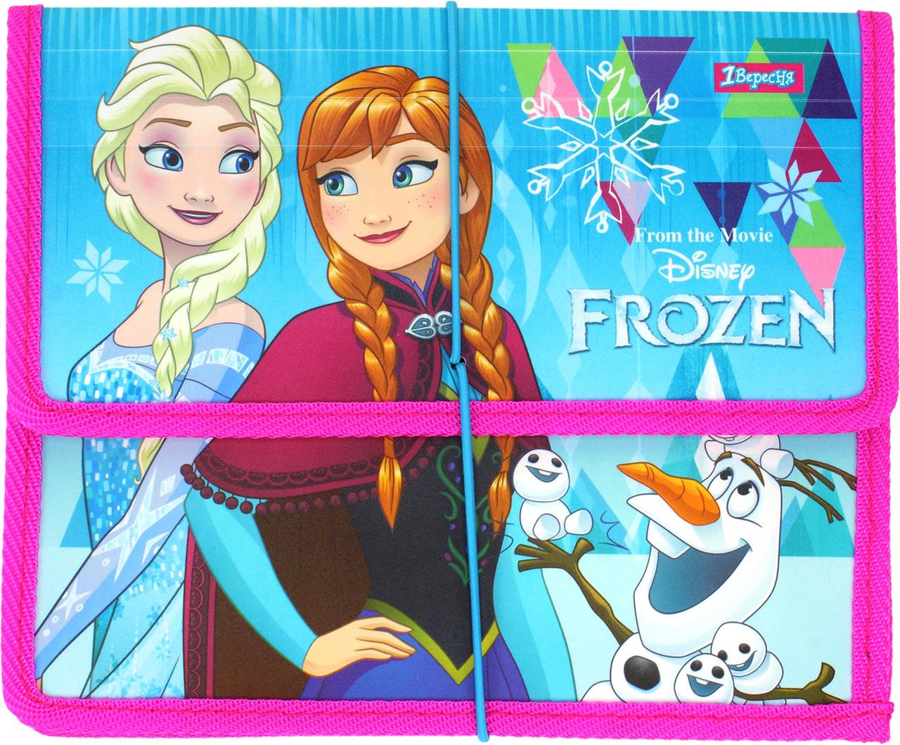 "Папка для зош. B5 ""1В"" №491391 ""Frozen"" на рез. пласт.(24)"