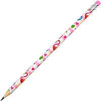 "Олівець гр. ""Yes"" №280460 Flamingo з гумкою,в пласт. тубі(39)"