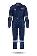 Комбинезон рабочий синий 100%  хлопок с водоотталкивающей пропиткой для моряков