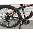 """Спортивный велосипед черно-красный ТopRider 26"""" металлическая рама 17"""" рост 160 - 180см, фото 4"""