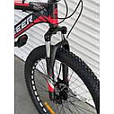 """Спортивний велосипед чорно-червоний ТopRider 26"""" металева рама 17"""" ріст 160 - 180см, фото 3"""