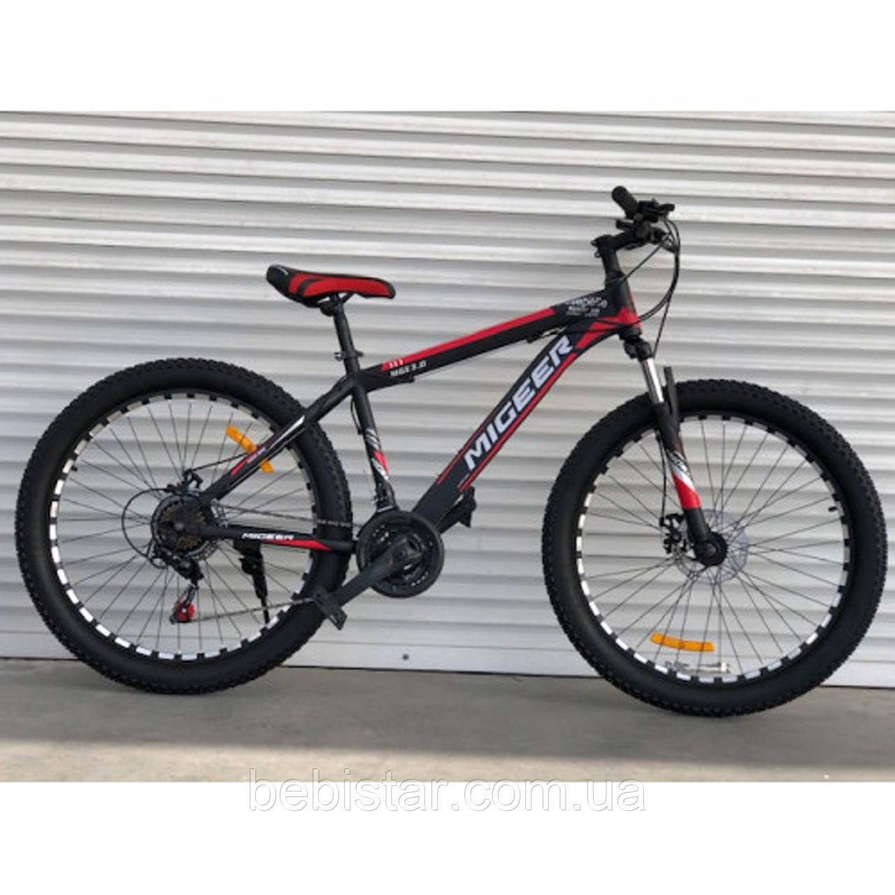 """Спортивний велосипед чорно-червоний ТopRider 26"""" металева рама 17"""" ріст 160 - 180см"""