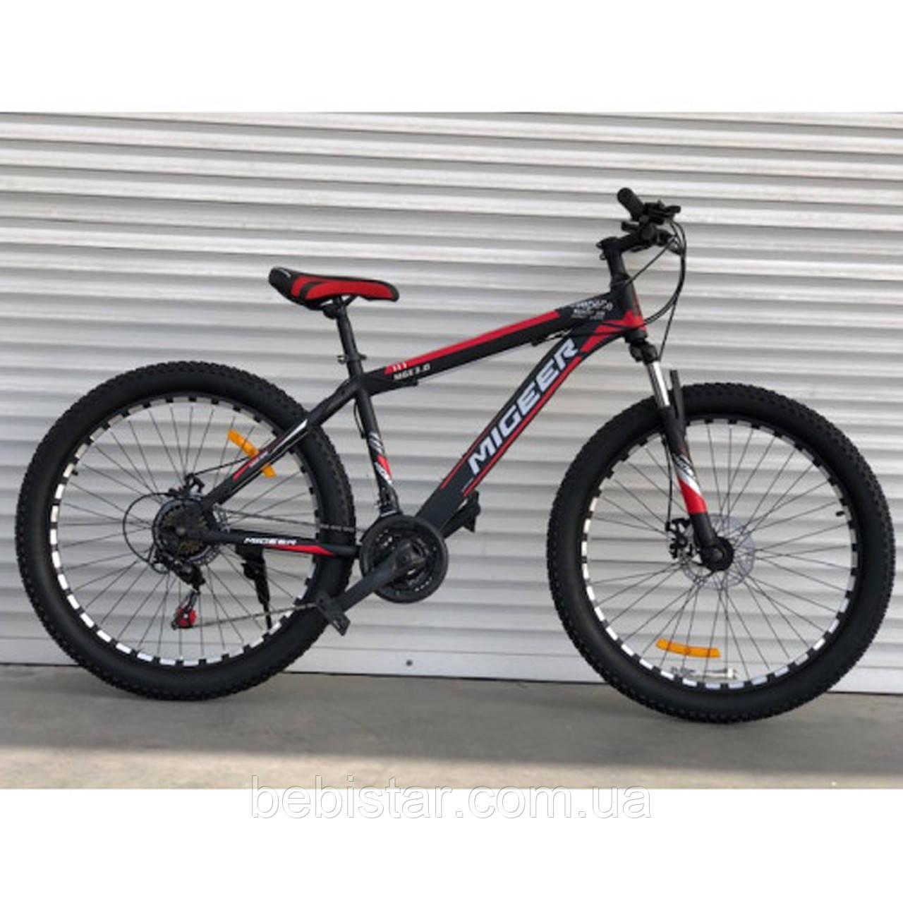 """Спортивный велосипед черно-красный ТopRider 26"""" металлическая рама 17"""" рост 160 - 180см"""
