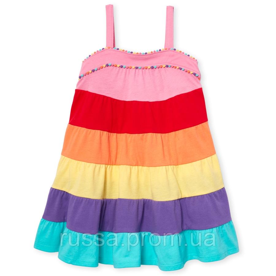 Разноцветное платье без рукавов Сhildren's Place для девочки