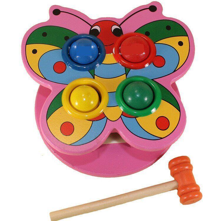 "Деревянная игрушка стучалка ""Бабочка"""