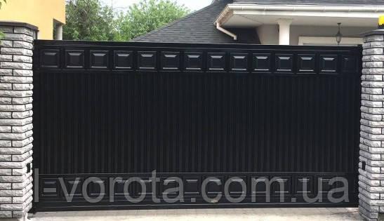 Сдвижные ворота ТМ HARDWICK ш3800, в2000 (дизайн Люкс)