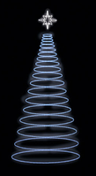 3D светодиодная елка 400х150cm
