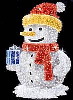 "3D светодиодная фигура ""Снеговик"" 225X180cm"