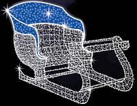 "3D светодиодная фигура ""Сани"" 150X200Х100cm"