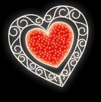 "Светодиодный мотив ""Сердце"" 150X150cm"