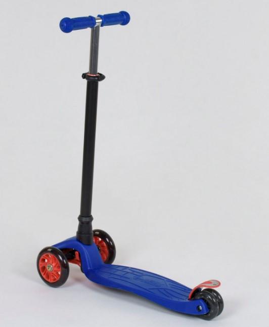 Самокат трехколесный детский со светящимися колесами синий Best Scooter Maxi 466-113/А24966