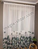 Тюль шифон с цветочным рисунком. Турция, фото 1