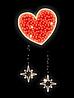 "Светодиодный мотив ""Сердце"" 180X80cm"