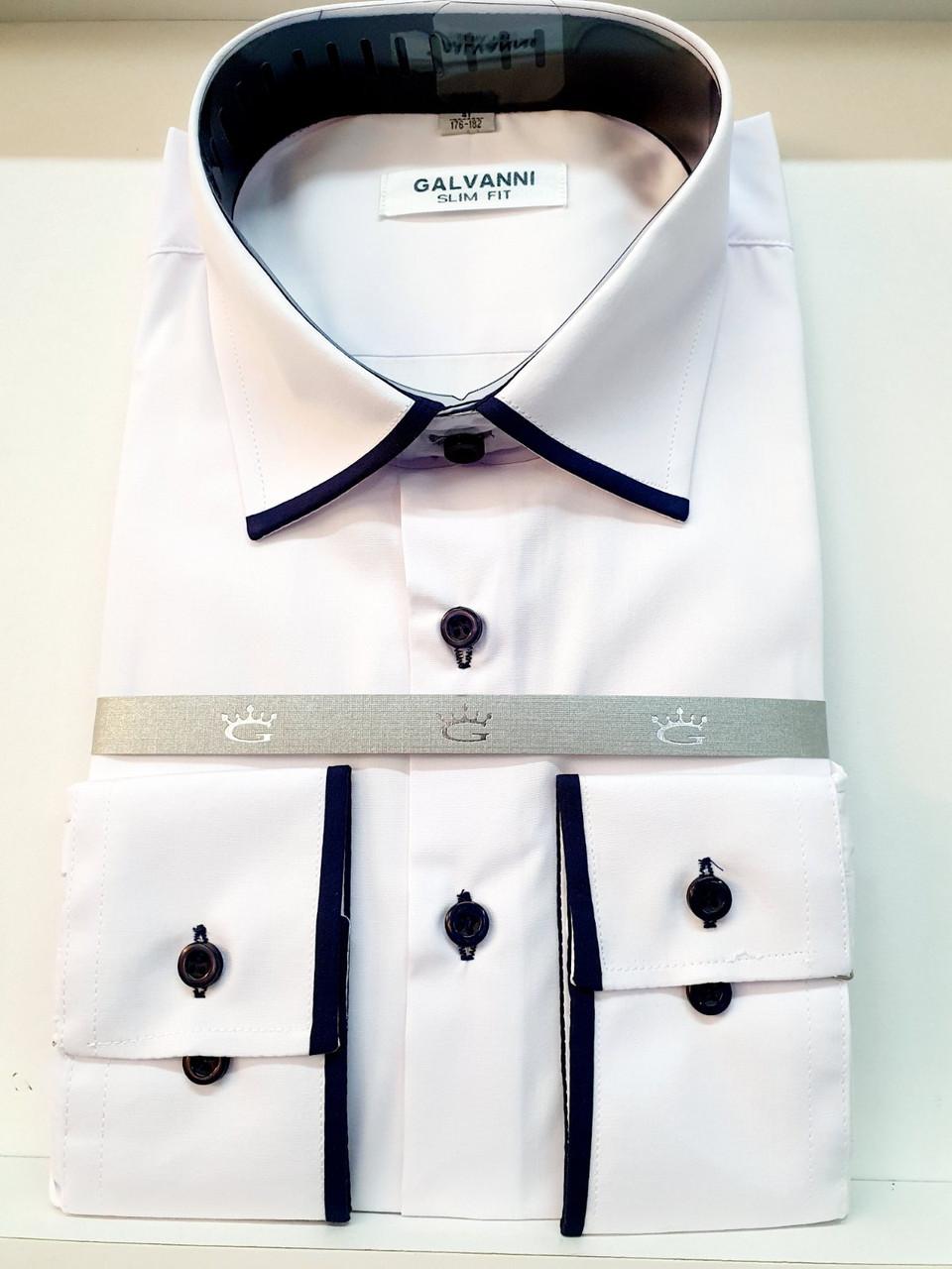 Сорочка біла чоловіча Galvanni - 453-5