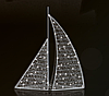 """3D светодиодная фигура """"Корабль"""" 600X500cm"""