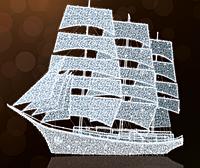 """3D светодиодная фигура """"Корабль"""" 1000X12000cm"""