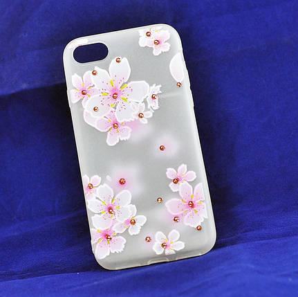 Чехол Meizu M3e Silicone Spring Sakura, фото 2
