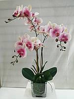 Композиция из искусственных орхидей фаленопсис 3ст.h65см., фото 1
