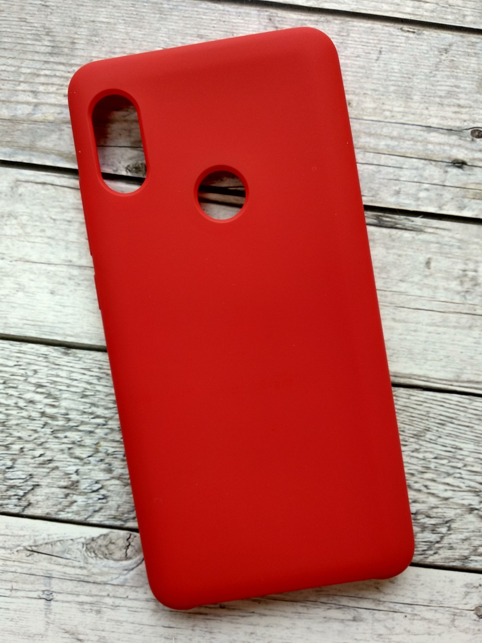 Чехол Samsung A6+/А605 (2018) Silicone Cover Soft Touch (красный)