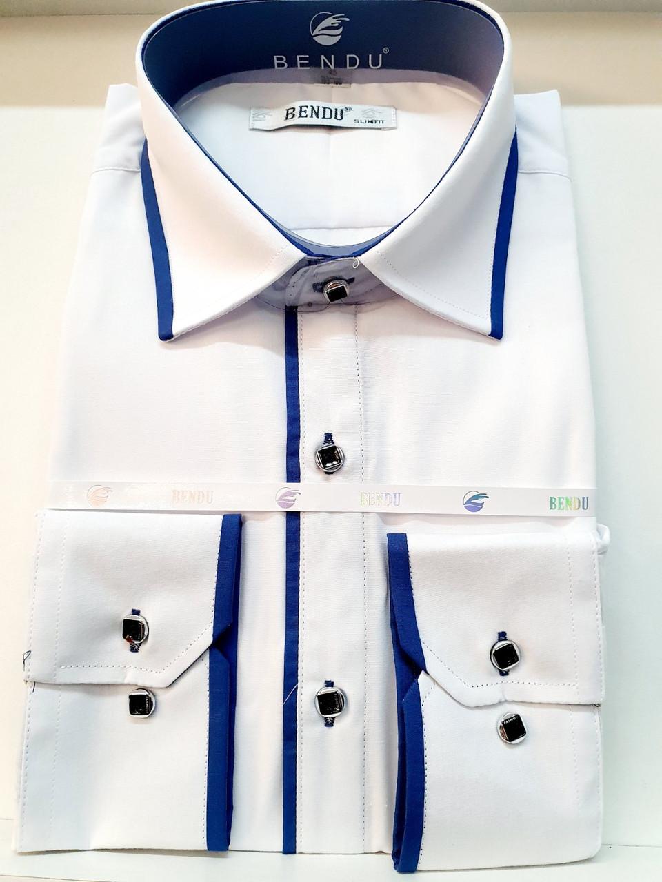 Рубашка Bendu белая с длинным рукавом - 711-112