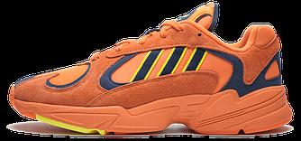 Кроссовки Adidas Yung-1 Orange Оранжевые женские