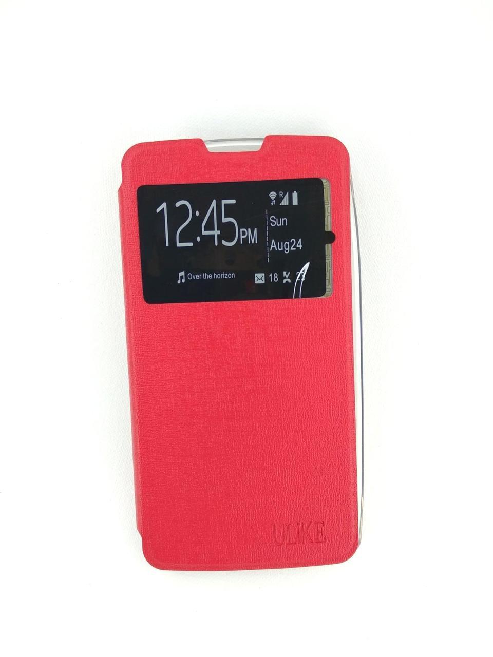 Чехол-книжка Flip Cover for Lenovo A5000 red