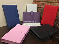 """Чехол-папка с клавиатурой к планшетам 7"""" pink Micro USB"""