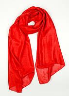 Шёлковый весенний женский шарф Кларис красный