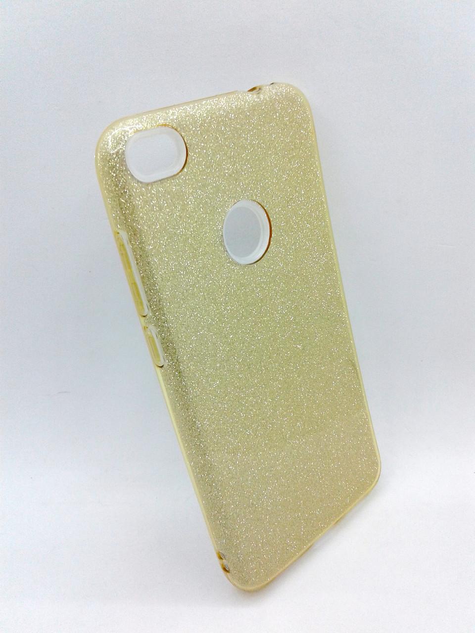 Чехол Xiaomi Redmi Note 5APrime Silicone + Plastic Twins gold