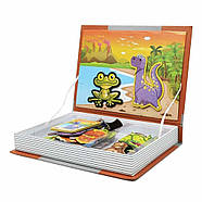 Магнитная книга набор magnetic book магнетик бук animal spell дикие животные 6807, фото 2