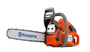 Бензопила Husqvarna 445II, мощность 2,8 л.с., длина шины 40см, шаг 0,325, толщина звена 1,3 мм