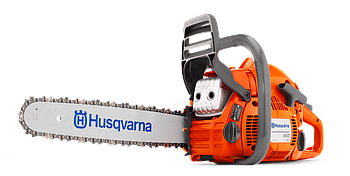 "Бензопила Husqvarna 450II мощность 3,2 л/с, длина шины 15"", шаг цепи 0.325"" mini, толщина звена 1.3мм"