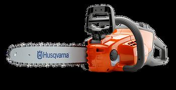 """Бензопила аккумуляторная Husqvarna 120 i, напряжение 36В, двигатель без щеток, шина 12"""", шаг цепи 3/8"""","""