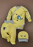 Комплект на выписку в роддом для новорожденного Люкс 62 размер