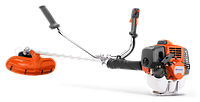 Травокосилка мотокоса бензиновая Husqvarna 531RS, мощность 1,6 л/с, косильная головка+нож, подвеска- плечевой