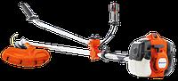 Бензиновая травокосилка Husqvarna 135R мощность 1,9 л/с, косильная головка+нож, подвеска- плечевой ранец