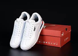 Мужские кроссовки Puma Roma Bmw белого цвета