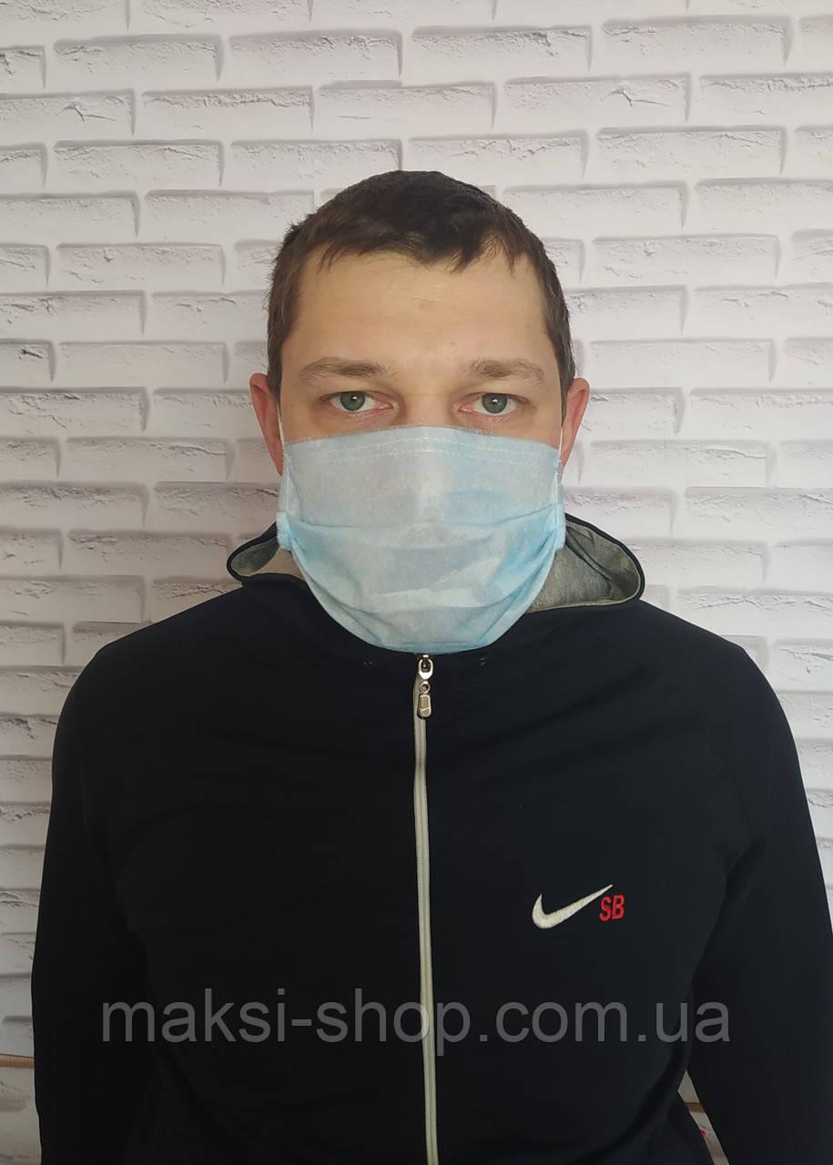 Защитная маска не медицинская трёхслойные