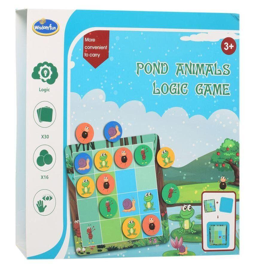 Игра головолома wisdom fun pond animals logic game насекомые лягушка