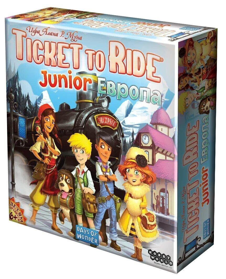 Настольная игра Ticket to Ride Junior Европа HobbyWorld