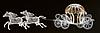 """3D светодиодная конструкция """"Конный экипаж"""" 260X850Х225cm"""