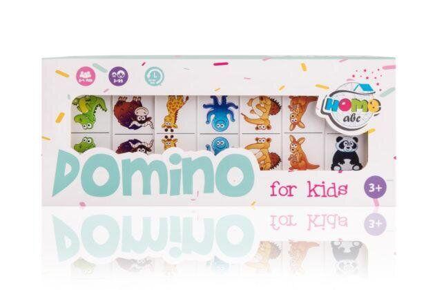 Детское домино с Животными белое DOMINO Animals white set (ABC Home)