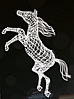 """3D светодиодная фигура """"Лошадь"""" 300X145X50cm"""