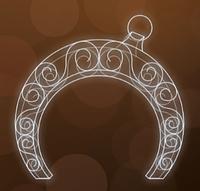 """3D светодиодная конструкция """"Арка"""" Ø300cm"""