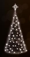 3D светодиодная елка 600х180cm